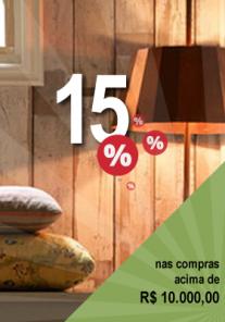 15% nas compras acima de R$10.000,00